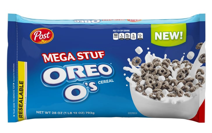 Mega Stuf Oreo O's cereal in 28-ounce resealable bag