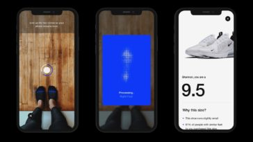 Nike Fit AR app