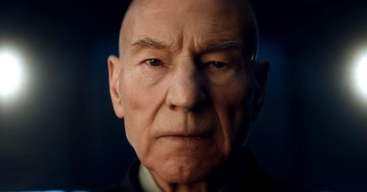 Patrick Stewart as Jean-Luc Picard in Star Trek Picard trailer