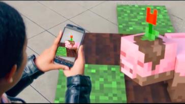 Minecraft AR on a mobile