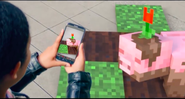 Minecraft AR on a mobile