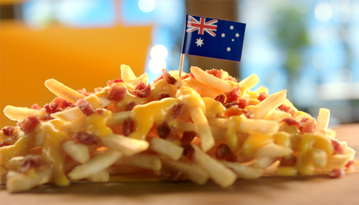 Cheesy Bacon Fries from Australia