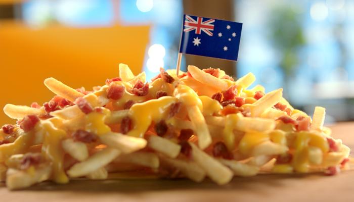 Cheesy Bacon Fries from Australia
