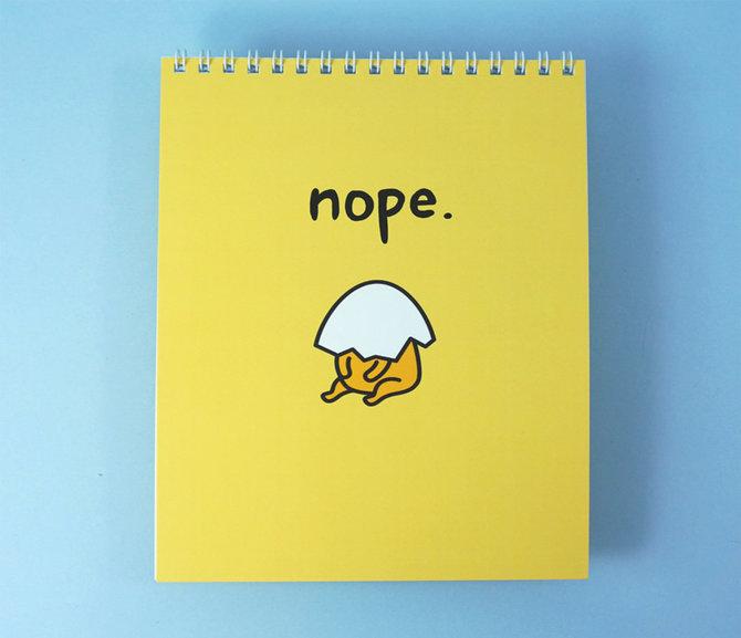 Jolly Awesome x Gudetama Notepad: Nope