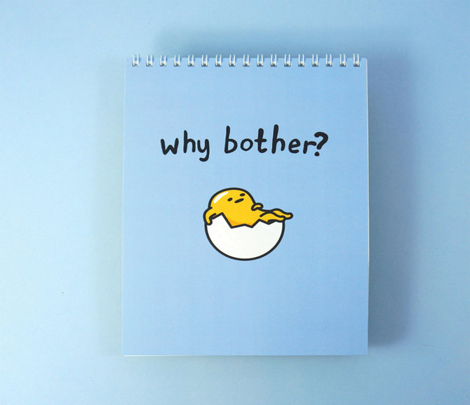 Jolly Awesome x Gudetama Notepad: Why Bother