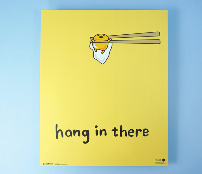 Jolly Awesome x Gudetama Art Print: Hang In There (new)