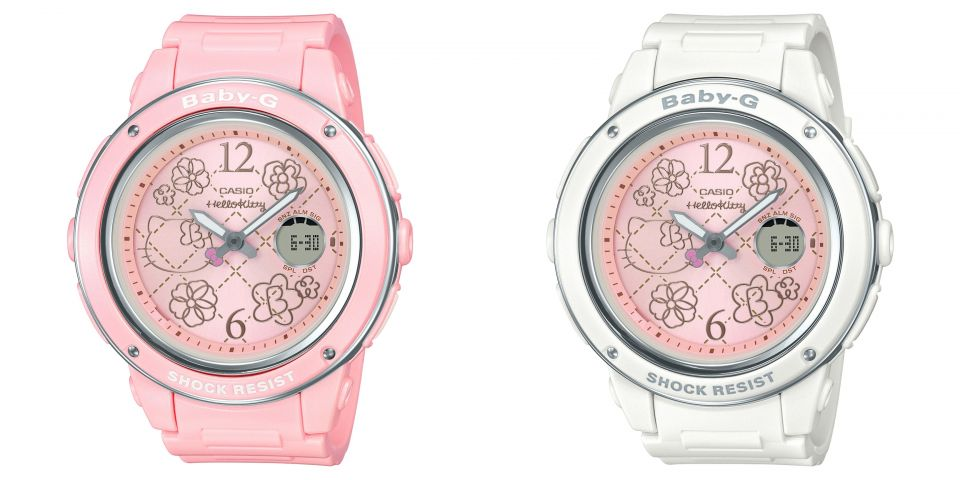 Hello Kitty x Baby-G watch pink and white