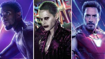 Black Panther, Joker, Iron Man