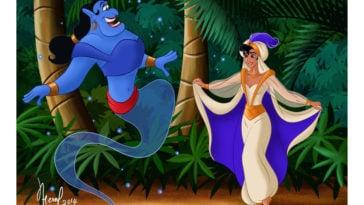 Female Aladdin and Genie - featured image
