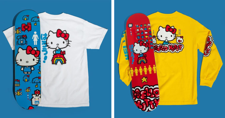 Hello Kitty and Girl Skateboards collection