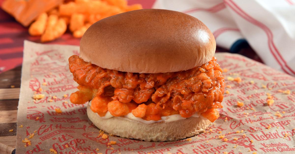 KFC Cheetos Sandwich