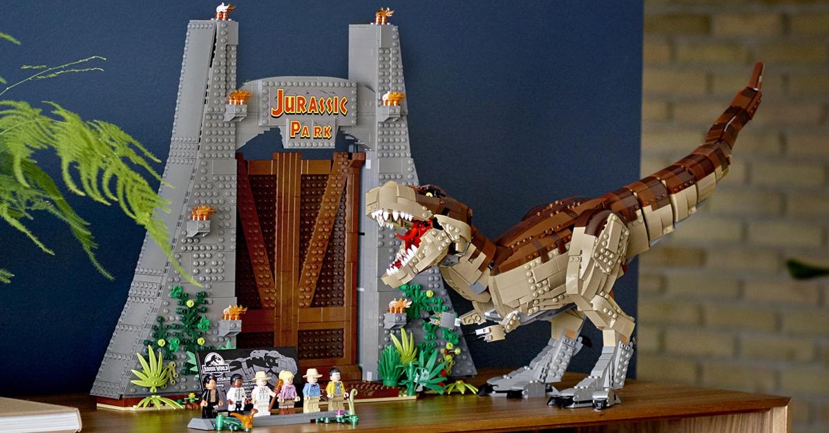 LEGO Jurassic World Jurassic Park T rex Rampage set