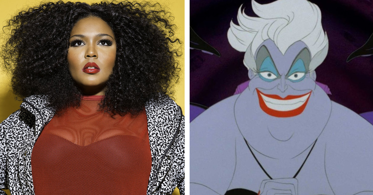 Lizzo and Ursula from The Little Mermaid