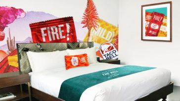 Taco Bell pop-up hotel room