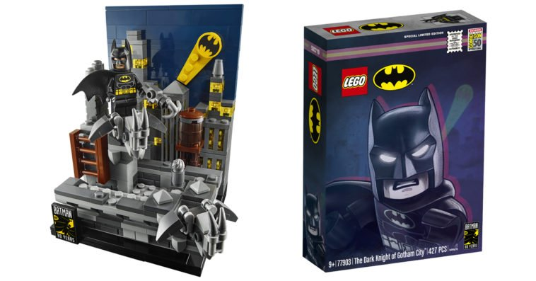 The Bat Signal steals the show in latest Gotham City LEGO set 10