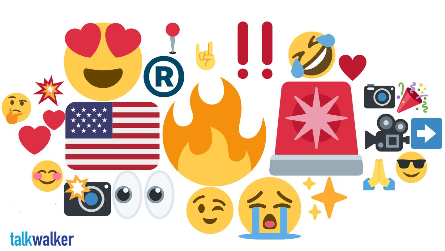 Austin emoji heat map