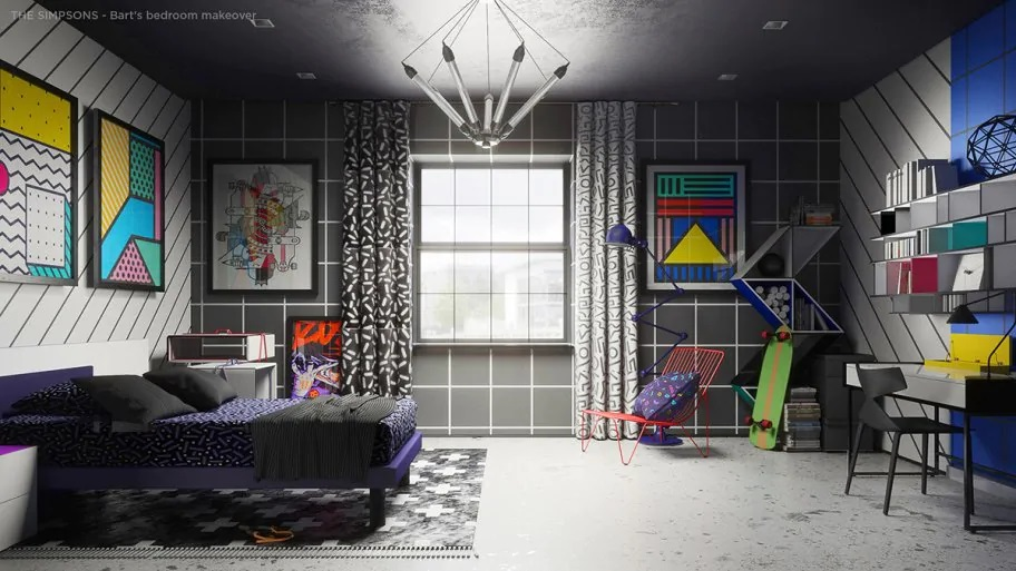 Bart's redesigned bedroom