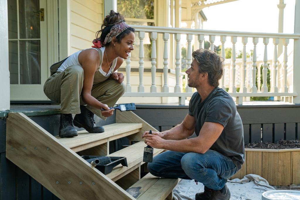 Christina Milian and Adam Demos in Netflix's Falling Inn Love