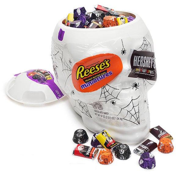 Hersey's Halloween Assortment Skull Bowl