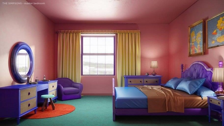 Marge and Homer's original bedroom