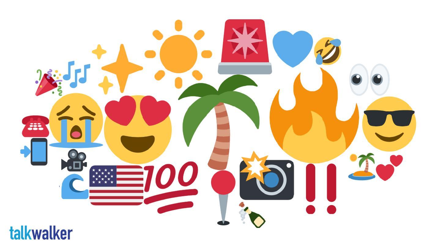 Miami emoji heat map