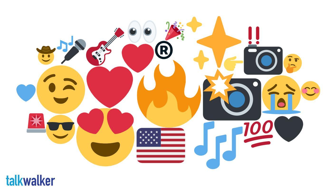 Nashville emoji heat map