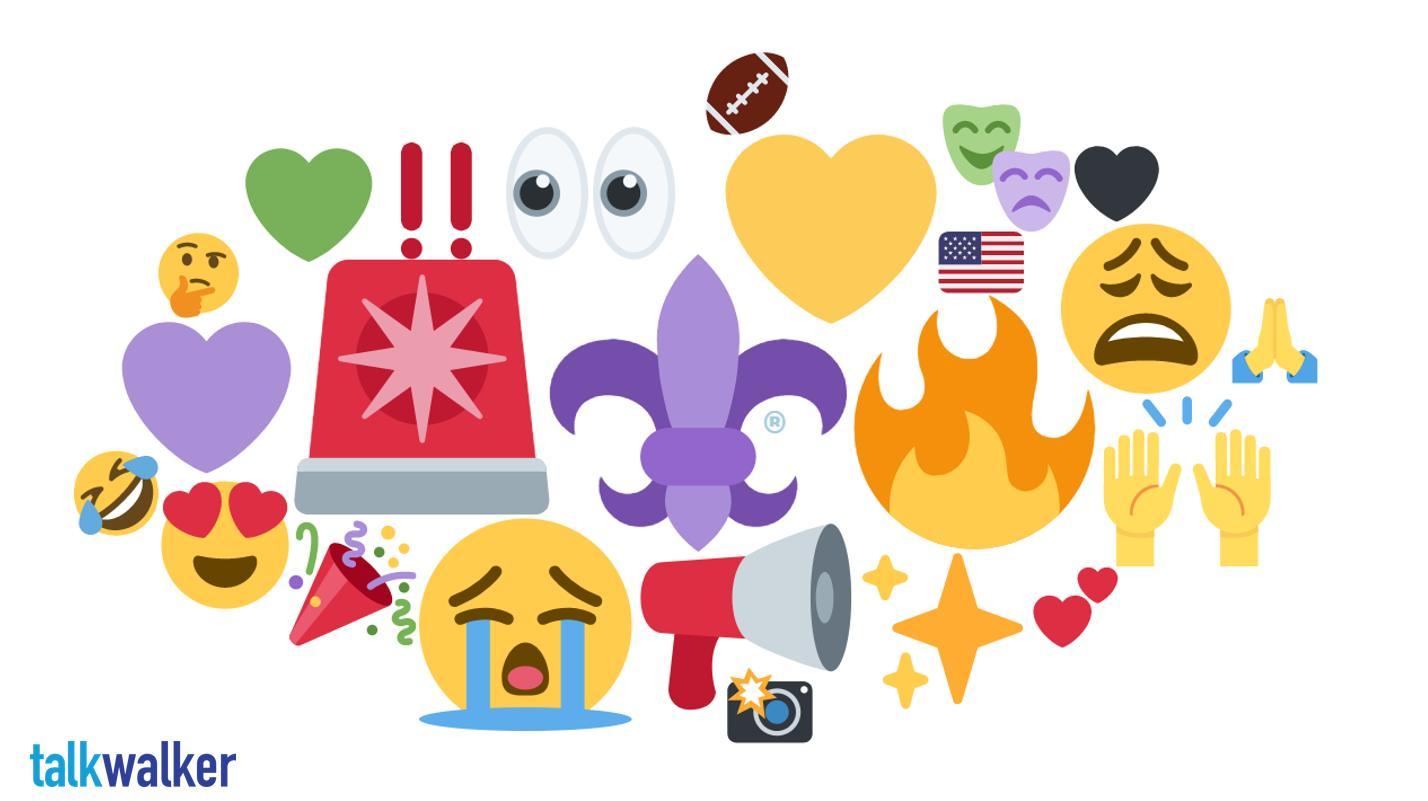 New Orleans emoji heat map