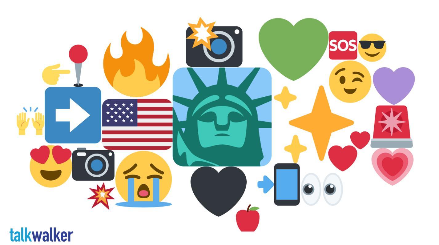 New York emoji heat map