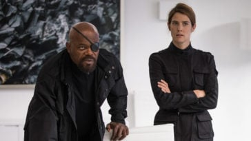 Nick Fury and Maria Hill in Spider-Man Far From Home