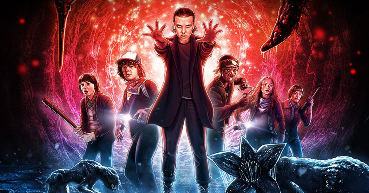 Poster for Stranger Things mazes at Universal Studios Halloween Horror Nights