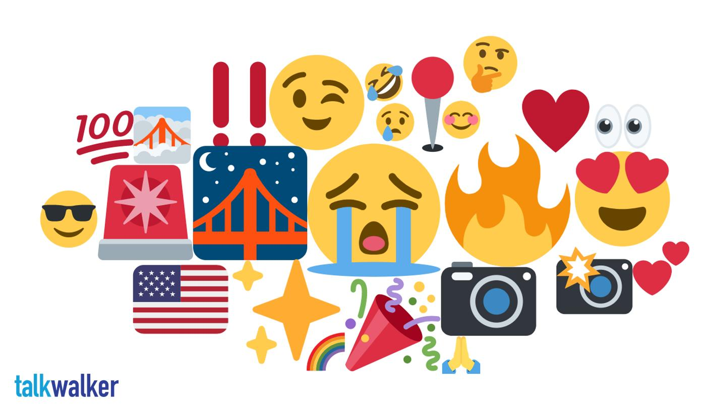 San Francisco emoji heat map