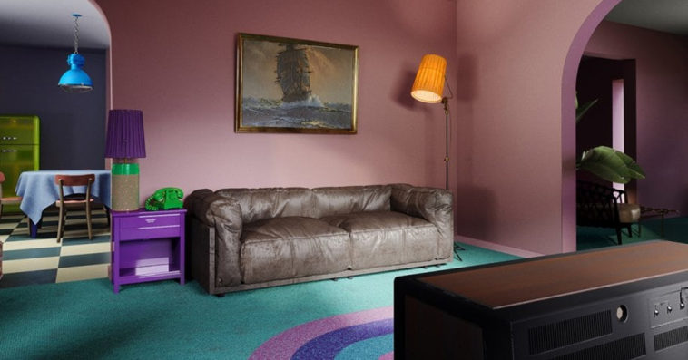 The Simpsons' living room