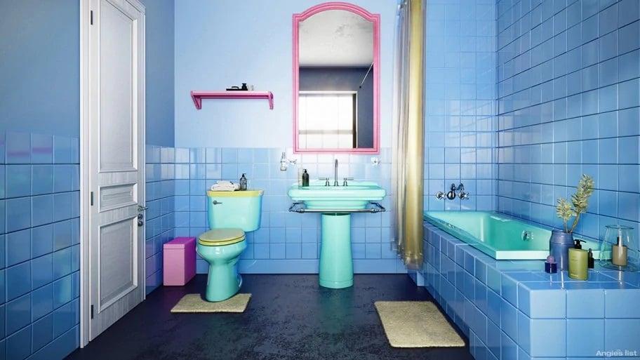 The Simpsons' original bathroom