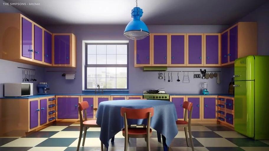 The Simpsons' original kitchen