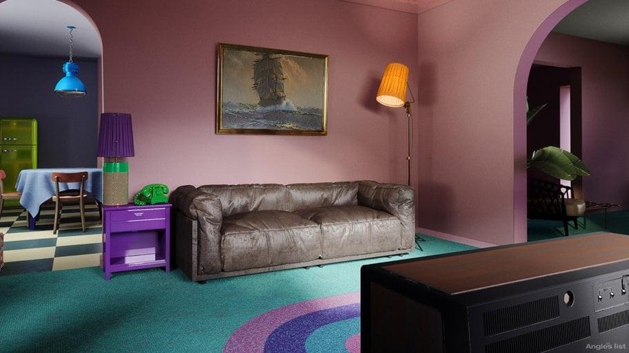 The Simpsons' original living room