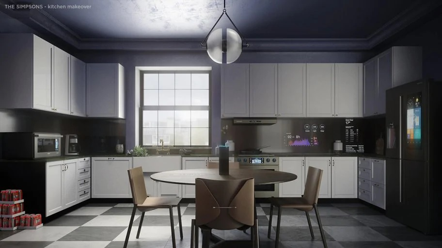 The Simpsons' redesigned kitchen