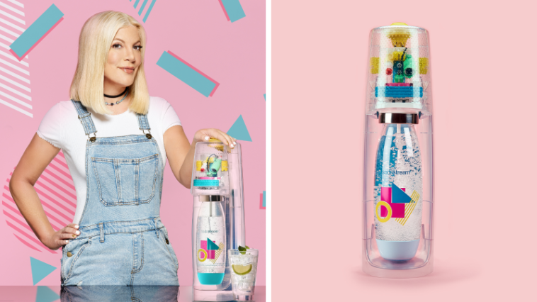 Tori Spelling is combatting plastic waste with a nostalgic 90's Sodastream model 9