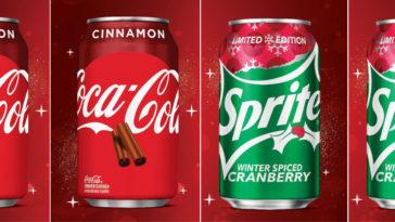 Coca-Cola Cinnamon and Sprite Winter Spiced Cranberry