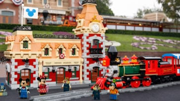 LEGO Disney train and station set