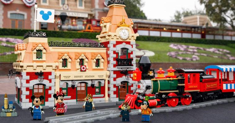 LEGO Disney train and station set