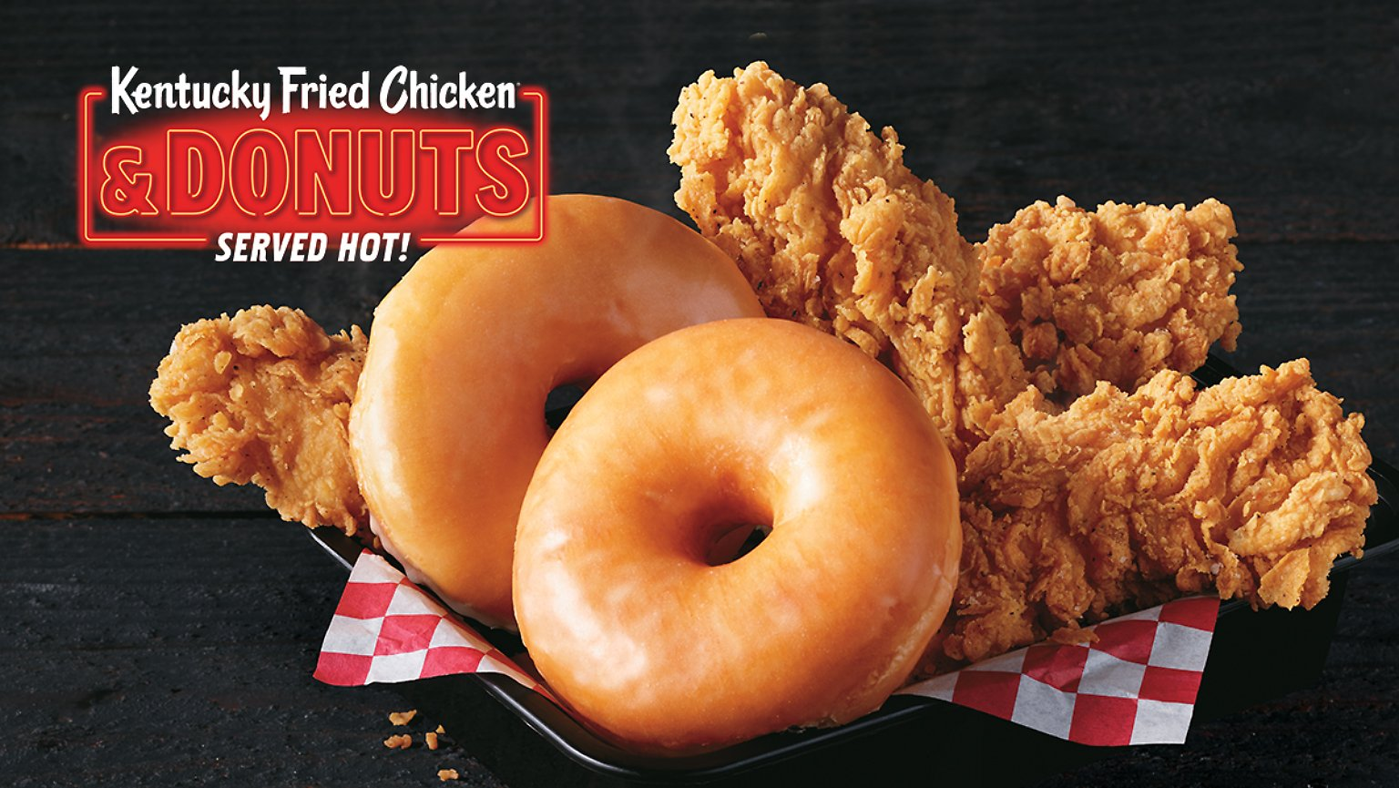 KFC's chicken and donut basket meal
