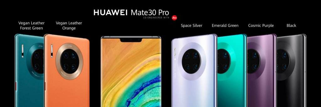 Huawei Mate 30 Pro color options