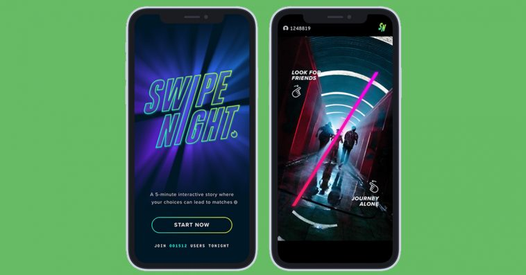 Tinder's interactive series Swipe Night gives users a new way to find their next match 12