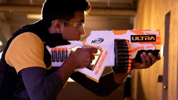The Nerf Ultra One 364x205 - The Nerf Ultra One Blaster is loaded with the farthest flying Nerf darts ever