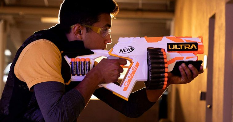 The Nerf Ultra One Blaster is loaded with the farthest flying Nerf darts ever 12
