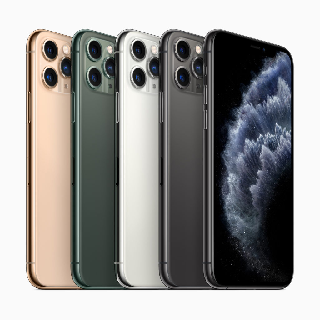 There are 4 colors to choose from for the iPhone 11, including a new green color