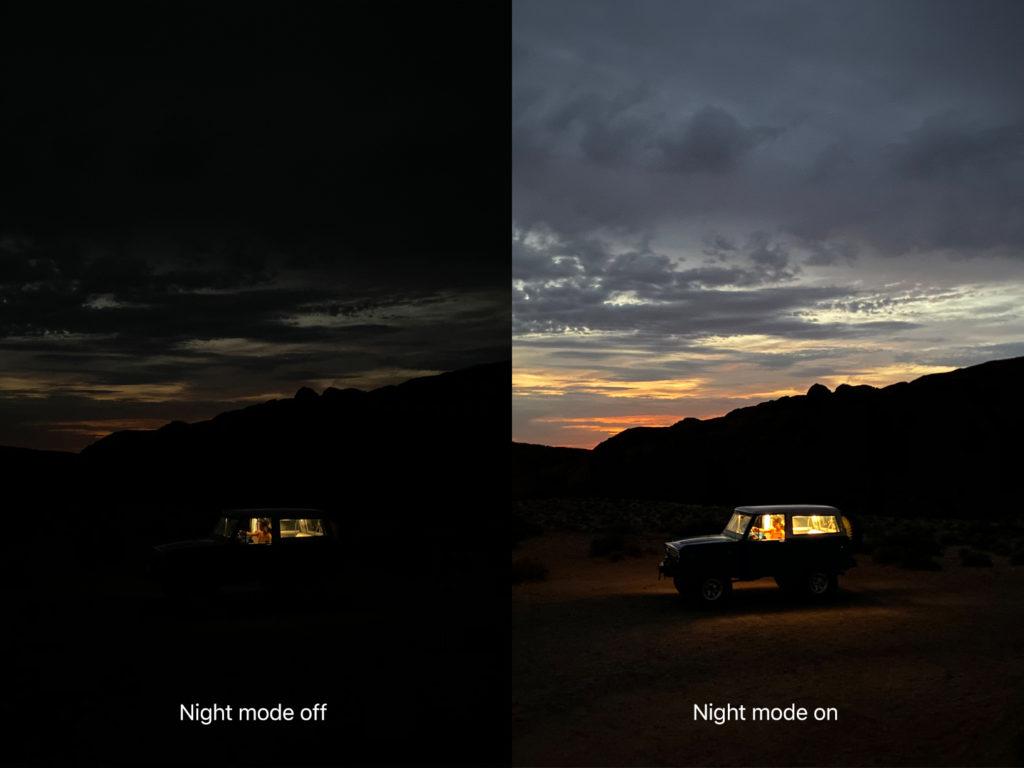 iPhone 11 Pro night mode