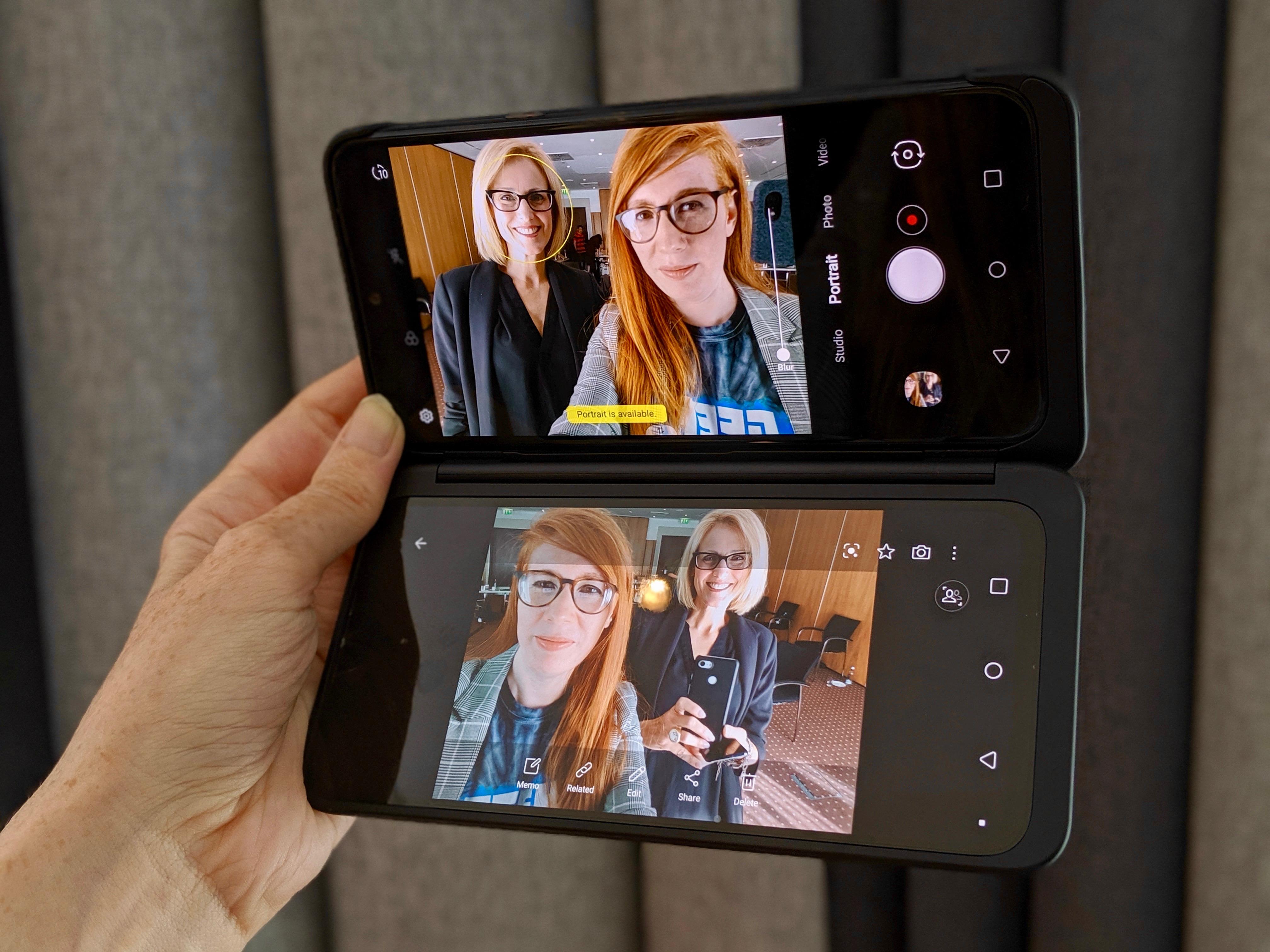 Dual Mirror mode on the LG Dual Screen