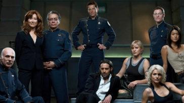 The cast of Ron Moore's Battlestar Galactica