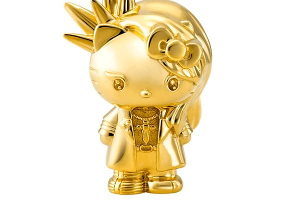 This Yoshikitty solid gold figurine costs a whopping $10,000 12